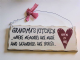 Grandma's Kitchen... Where memories are made and Grandkids are spoiled.. Wooden Hanging Plaque